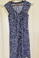 Sussan Dress small 10 blue Floral Jersey As New Sleeveless