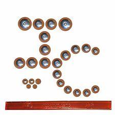 IC Premium Sax Pads, Alto Saxophone Pad Set, Metal Resonators, Made in USA!