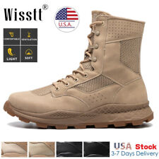 Men's Army Military Combat Boots Waterproof Fishing Hiking Tactical Work Shoes