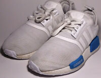 Adidas Originals NMD_R1 J GS White/Blue Running Shoes Women's Size: 5 AQ1785