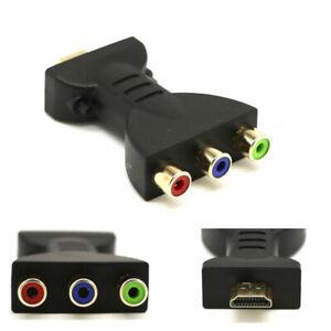 HDMI a 3 RCA Convertitore Video Full HD 1080P AV Composito Adattatore Scart CVBS