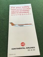 safety card continental dc 9 30