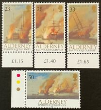 Alderney. Battle of la Hogue Stamp Set. A52/A55. 1992. MNH. (Y44)