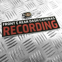 1X FRONT & REAR DASH CAMERAS RECORDING - FUNNY CAR STICKER DECAL BUMPER