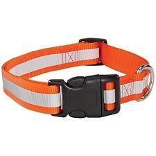 "Guardian Gear ZA9841469 Reflective Dog Collar- Fits Necks 14"" To 20""- Orange NEW"