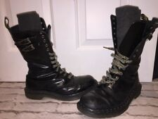 Unisex Rare Dr Martens Biker Boots Uk8 EU41.  Goth Boots 14 Eyelet Made In Uk