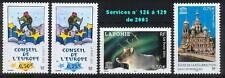 SERVICES CONSEIL DE L'EUROPE / UNESCO 126 à 129  NEUFS