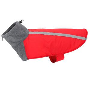 Small Medium Large Dog Coat Fleece Hoodie Reflective Design Leash Hole Winter