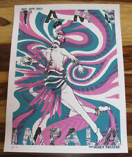 """TAME IMPALA Denver 2015 Silk Screen """"Cotton Candy"""" Variant Poster  #'d 18 of 25"""