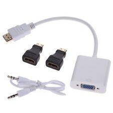 1080P HDMI/Mini HDMI/Micro HDMI/to VGA Converter Adapter With Audio Video Cable