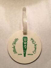 Vintage Rare Illahe Hills Country Club Golf Bag Tag - Salem, Oregon - A Beauty!