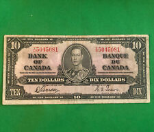 Bank of Canada 1937 $10 Ten Dollar Gordon-Towers Y/D Prefix King George VI
