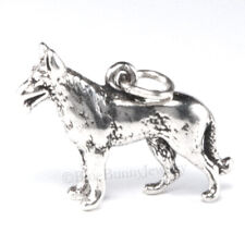 GERMAN SHEPHERD Dog Charm Pendant solid 925 Sterling Silver 3D .925