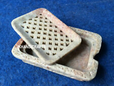 "4.5"" Marble Soap Dish Holder Handcrafted Bathroom/Washroom Decor"