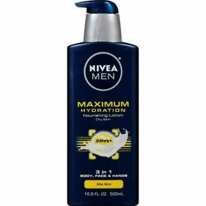 NIVEA Men Maximum Hydration 3 in 1 Nourishing Lotion 16.9 Fl Oz Pack of 1