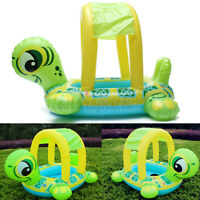 Tortoise Shape Kids Baby Inflatable Pool Float Seat Boat Water Swim Ring