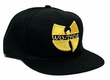 Official Wu Tang Clan Gold Embroidered Logo on Black Snapback Flatbill Hat
