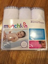 Munchkin 3 Count Waterproof Changing Pad Liners Brand New