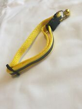 Cat / Small - medium  dog Yellow Reflective  Road Safety Collar with bell