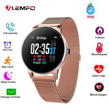 LEMFO New Women Smart Watch Blood OxygenPressure Heart Rate Waterproof Bracelet