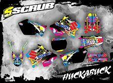 SCRUB Suzuki graphics decals kit RM 125 250 2001 - 2008 stickers MX '01-'08