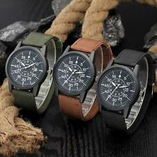 Mens Stainless Steel Military Sport Date Analog Quartz army Style Wrist Watches
