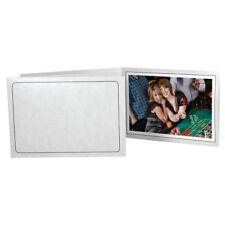 Printed Gray Marble 5x7 Photo Folders Horizontal 25 Pack (Same Shipping Any Qty)