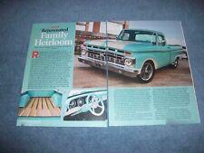 "1965 Ford F-100 Shortbed Fleetside Article ""Rejuvenated Family Heirloom"""