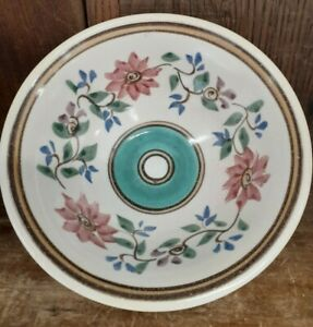 Vintage Dover Pottery Bowl Soup Salad Cereal Handpainted Decorated Seagrove NC