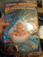 Inflatable  Hungry Shark Shape Kids Swimming Ring Pool lake toys New