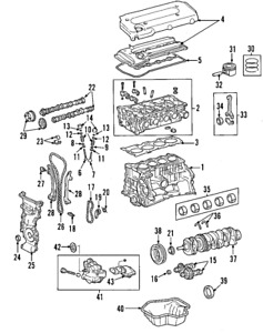 Genuine Toyota Engine Exhaust Valve 13715-28040