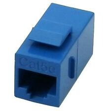 RJ45 Cat5e Female to Female Coupler UTP Ethernet Keystone Jack Blue