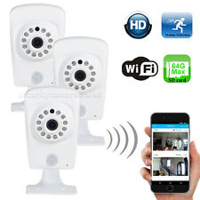 3 Wireless HD 720P Wi-Fi IP Audio Security Camera Night Wide Angle SD Card B2O