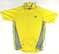 Men's  Adidas Size XL Yellow Grey Cycling Jersey