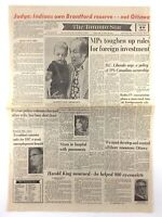 Vintage July 13 1973 Toronto Star Front Page Newspaper Indian Own Brantford K724