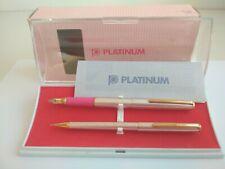 Rare Platinum B-3 Fountain Pen & Pencil 0.5 mm set. Made in Japan. FULL SET