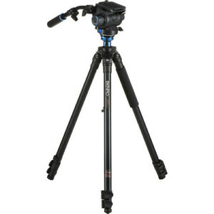 Benro A2573FS6 S6 Video Head and AL Flip Lock Legs - Max Load - 13.2 lb / 6 kg