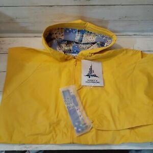 Misty Harbor Yellow Waterproof Rain Jacket Patchwork Fabric  Lining 1X Womens