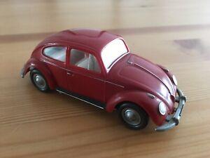 Vintage 1960s Wiking promotional/ Dealer model Beetle Maroon !!
