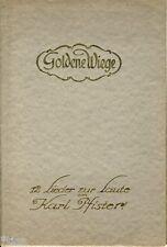 Karl Pfister Goldene Wiege 12 Lieder zur Laute Noten und Text um 1921