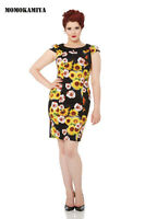 BLACK FLOWER DRESS VOODOO VIXEN JAWBREAKER 50S VINTAGE DRA8131 RETRO ROCKABILLY