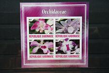 Orchideen 47 orchid Gabonaise Blumen flower Flora Pflanzen plants postfrisch MNH