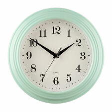 Bedroom Analogue Plastic Round Wall Clocks