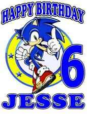 SONIC BIRTHDAY T-SHIRT Personalized Any Name/Age/Family Toddler to Adult