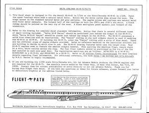 Vol Chemin Delta Compagnies Aériennes DC-8- 51/61/71 Décalques 1/144 FP44 31