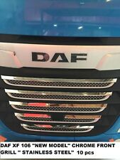 DAF XF 106 ''NEW MODEL'' CHROME FRONT GRILL '' STAINLESS STEEL'' 10 pcs