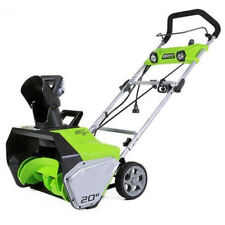 New Greenworks 13 Amp 20 in. Electric Snow Blower 2600202 Snowblower