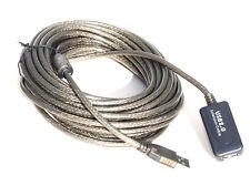 PROLUNGA USB 2.0 AMPLIFICATA ATTIVA 10  MT METRI CHIPSET INTEGRATO
