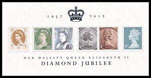 2012 GB Diamond Jubilee MS3272 Miniature Sheet UM MNH