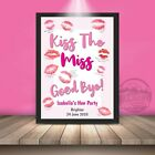 Hen Party Game Accessories Kiss The Miss Goodbye Personalised Do Gift Keepsake